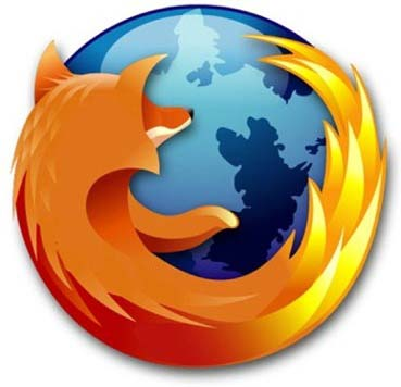 The mozilla firefox icon has an orange fox wrapped around a blue globe.